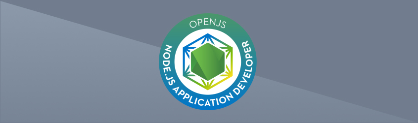 Node.js Certification Badge with Background